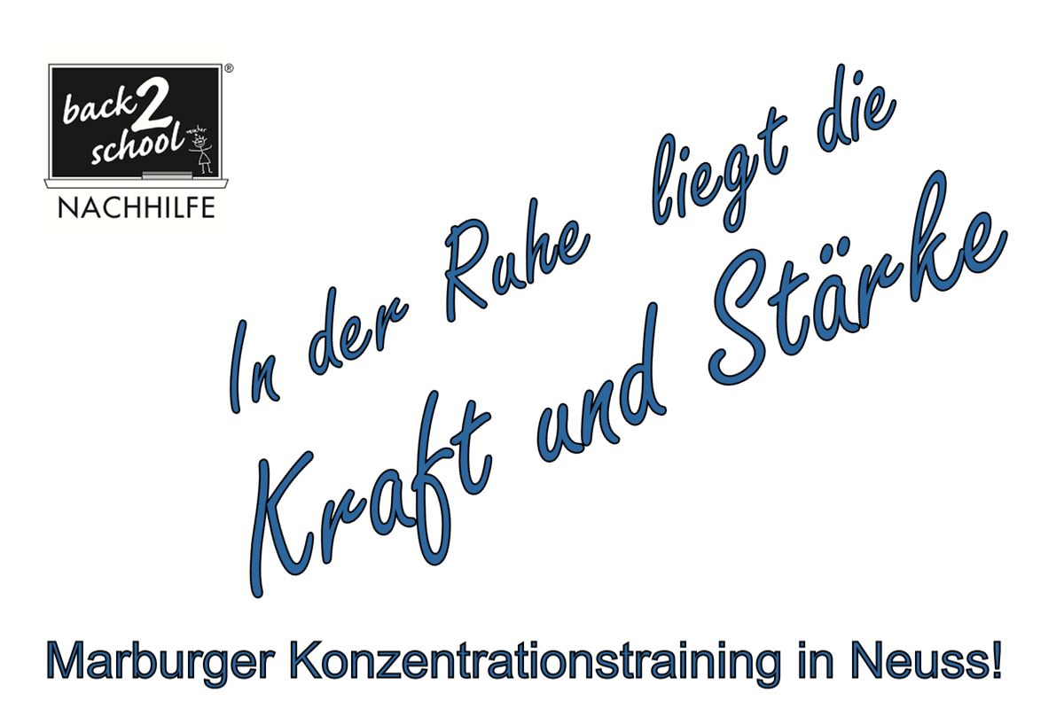 Marburger Konzentrationstraining in Neuss!